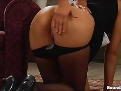 Subjugated Lady Gets Spanked