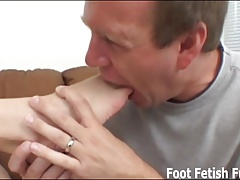 Let me give you a lovely filthy footjob