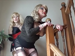 Angelique fucked by Madame C on the stairs