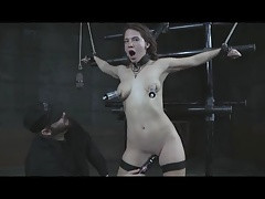 Slavegirl Wanking in Restraints