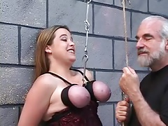 Bound Tits Suspended Cord