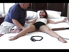 eagled girl tickled