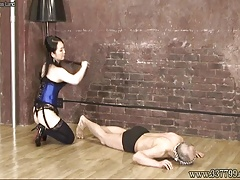 Female domination Towa face sitting and caning