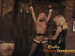 3 lusty bimbos have some wild lesbo  in the