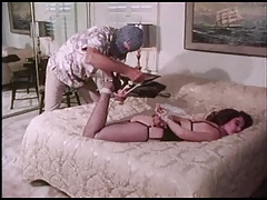 HURDY GURDY MAN - restrain bondage captive in pantyhose & high-heeled slippers tied