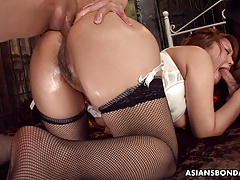 Providing her ass up in a insane domination & submission session