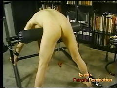 Insatiable man with  hair likes being whipped by his domina