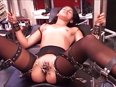 gal is tied,  and vib till cum