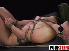 Trussed Teen Mia Pearl Gets Plunged