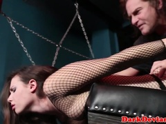 Marionette ultra-cutie sucked and gasped by her tormentor