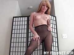 I want you to stroke your pink cigar to my sexy fishnets JOI