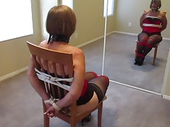 wifey tied to a stool