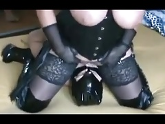German plus-size domme booty and beaver gobbling
