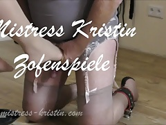 Crossdresser Marionette Instructing Dominatrix Mistress Kristin Bondage & discipline