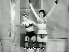 Friends Toying with Restrain bondage (1950s Vintage)