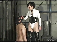 Chinese Female domination Shion  her victim teaching like a do