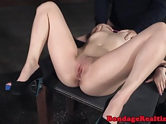 Cuffed bdsm sub penetrated in bi-racial 3