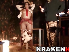 Krakenhot -   in her  Bondage & discipline audition