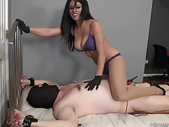 Female domination tramp Domme Tangent  defenseless corded masculine