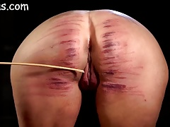 Ladies bootie brutally whipped