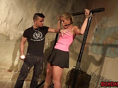 blond  loves being bound and slit