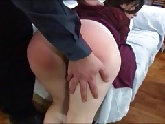 Wifes cunt gets engorged and humid when fanny spanked.