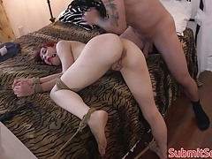 Redhead domination & submission honey stretched for poon frolicking