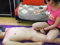 Chines female dominance hand job