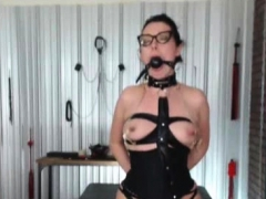 Woman In Latex Hidden Sex Apartment