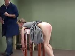 Trussed female with pierced vag lashed