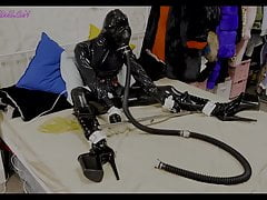 Gasmask  restrain bondage Breath Play