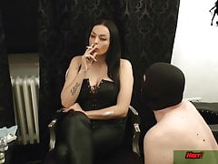 Horny slave for his german femdom domina domination & submission session