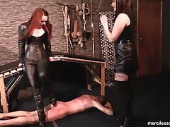 Conform to Our HighHeels -  Brit Dommes and Cock ball torture