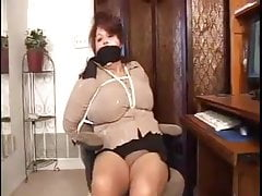 Elane bound, gagged, and  pounded