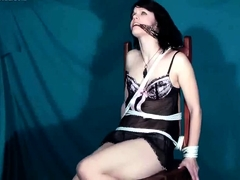 Smoking fetish with black-haired in mind-blowing undergarments