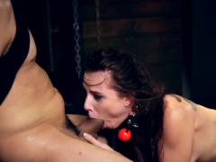 Feather climax restrain bondage  time Greatest mates Aidra Fox and