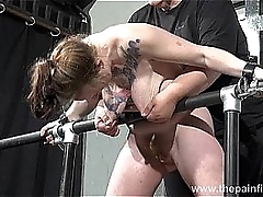 Bitch get harrowing overwrought punnet hung at bottom nipples