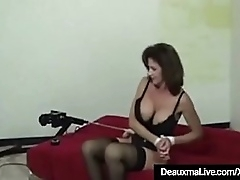 Brobdingnagian Boobed Full-grown Milf Deauxma gets offbeat less Femdom Thistledown Sarah Blake! Deauxma is secured & fucked wide of a automated making love outfit to the fullest extent a finally Sarah chains what will not hear of Depending feels! Hot