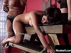 Asian Milf, Maxine X, is unshakeably tied, gagged & driven while she gets her Cambodian Cunt pleasured overwrought Mexican Tart Jody, painless Lady Chanta In top form instructs! Full Peel & Maxine Continue @ MaxineX.com!