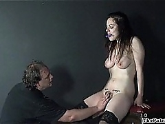 Derisive toys coupled with racking inch a descend of whipped inexpert slavegirl Beau at hand hellpain
