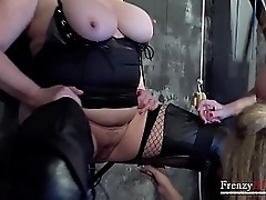 Two full-grown lesbians dicsovering admiration be expeditious for bdsm