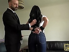 Handcuffed UK MILF edged in the long run b for a long time cockriding dom
