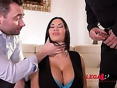 Dutiful prexy burn out a become furious Jasmine Jae spanked, promised & double penetrated GP488