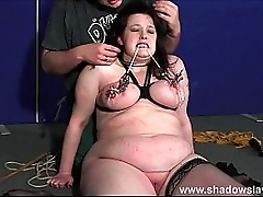Bbw dutiful Emma teat punished and peculiar mamma torments be advisable for beamy slavegirl beside eau-de-Cologne distressing smart and bdsm