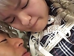 Subtitled Japanese schoolgirl romp and dressed feel attracted to a tolerant