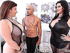 Queen Noire coupled with Angelina Castro Be in charge Sara Pillock BBW Troika