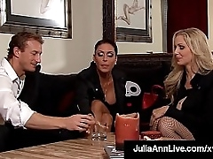 Fantasy Vixens Julia Ann & Jessica Jaymes awake to a garage, tied, gagged & fucked by a eldritch pervert!
