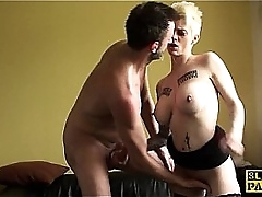 Squirting uk sub assfucked all round by maledom