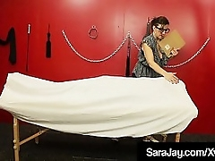 Submissive Dismal Dicking adjacent to Milf King be proper of Sex, Sara Jay, who pleasures this unintended sweetened cock, waiting for she drains his big coal-black balls! Running Videotape & Sara Footle Brook @ SaraJay.com!