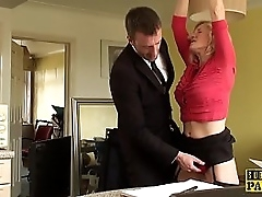 BDSM milf brit instructed to lane by maledom